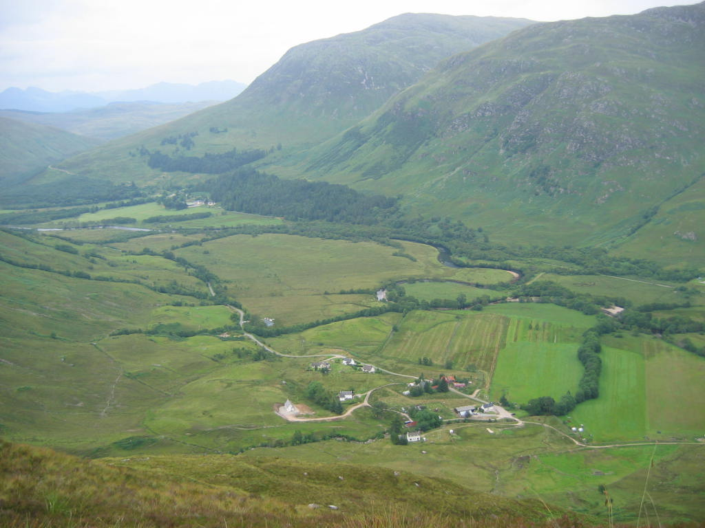 Aerial view of Camusluinie