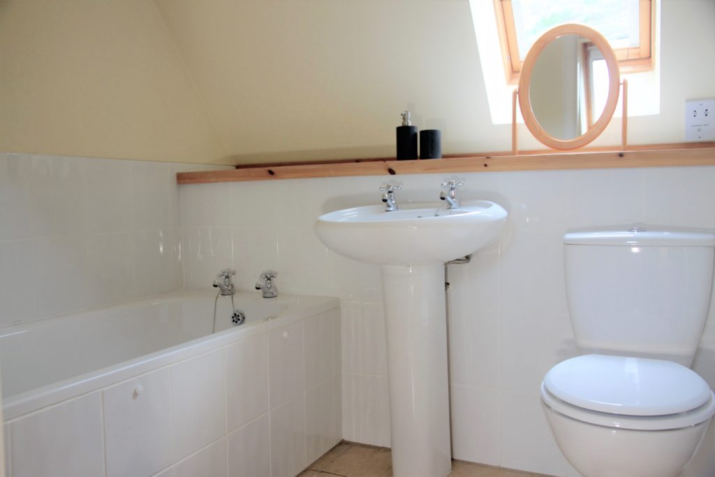 Upstairs bath and toilet